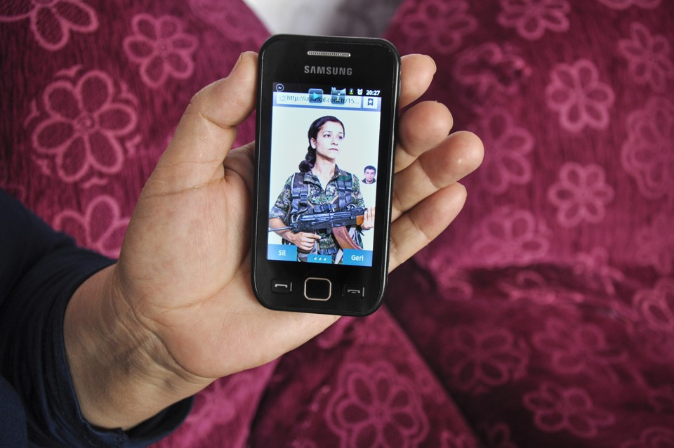 A photo of Silan on her mother's smartphone. Silan died fighting with Kurdish forces in Hasaka, Syria. (Lauren Bohn)