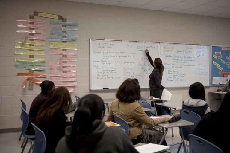 A senior high school math class at the public Selma High in Selma, Alabama (Christopher Morris/VII/GlobalPost)