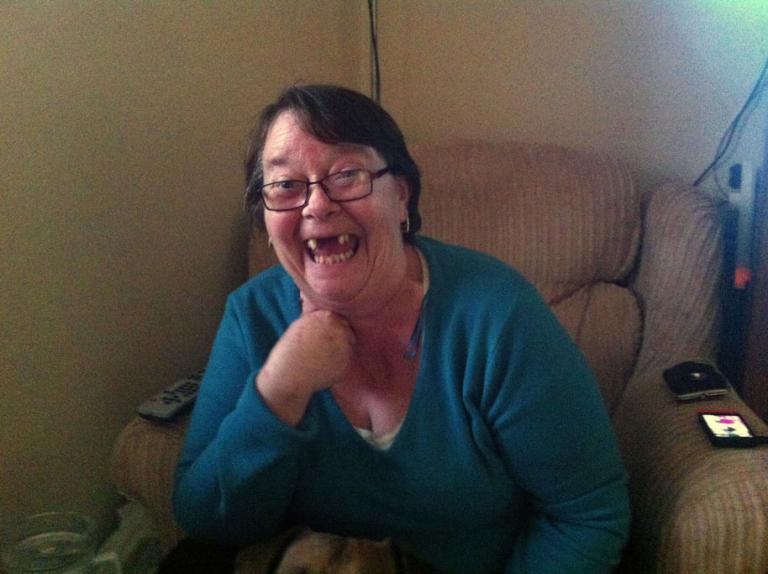 Maureen Aiken, 58, in her home in Grangetown, Middlesbrough. (Seamus Murphy/VII/GlobalPost)