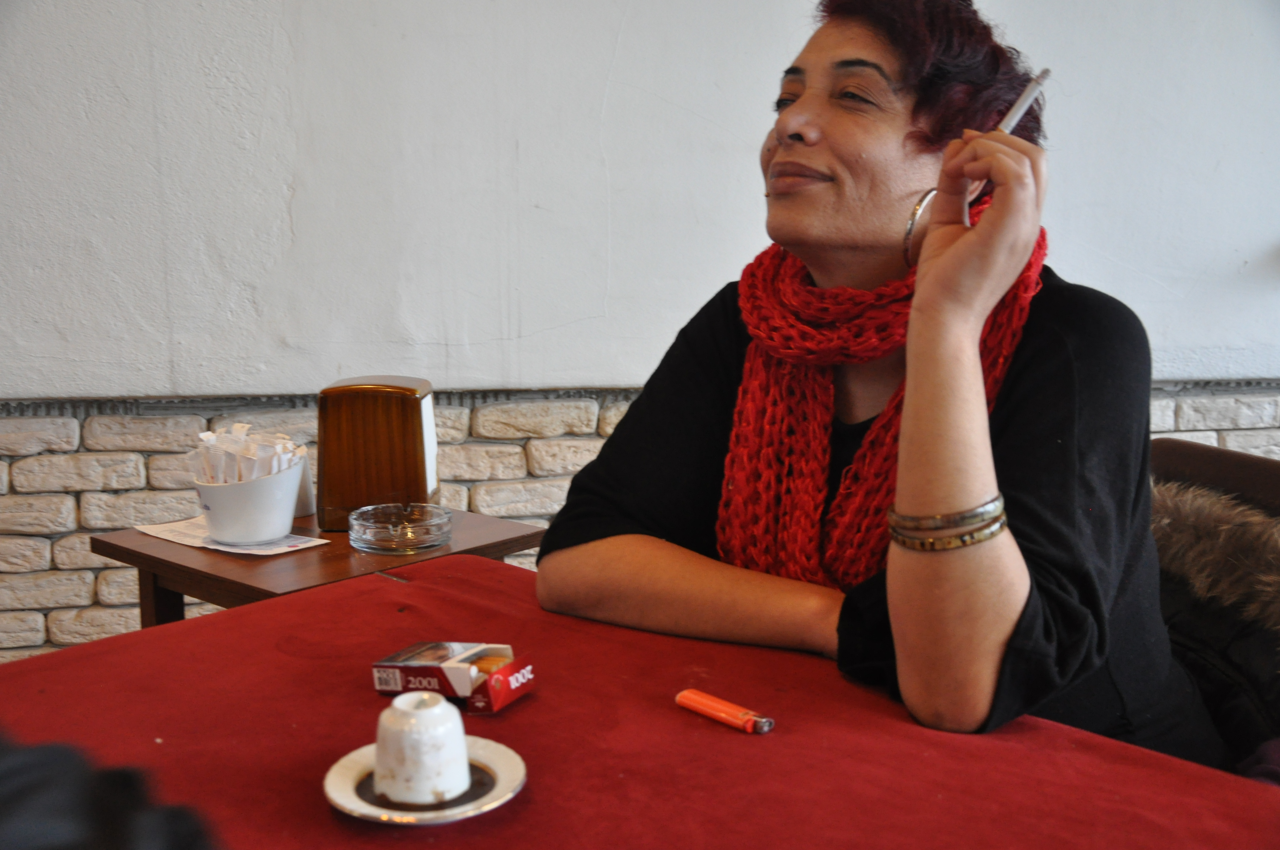 """Esmeray, a 45-year-old Turkish actress and activist, underwent gender reassignment surgery one and a half years ago. But she realized she was """"in the wrong body"""" long ago, when she was a 9-year-old boy growing up in Turkey's conservative, """"macho"""" Northeast. She says she was subjected to emotional violence her whole life. Bohn/GroundTruth"""