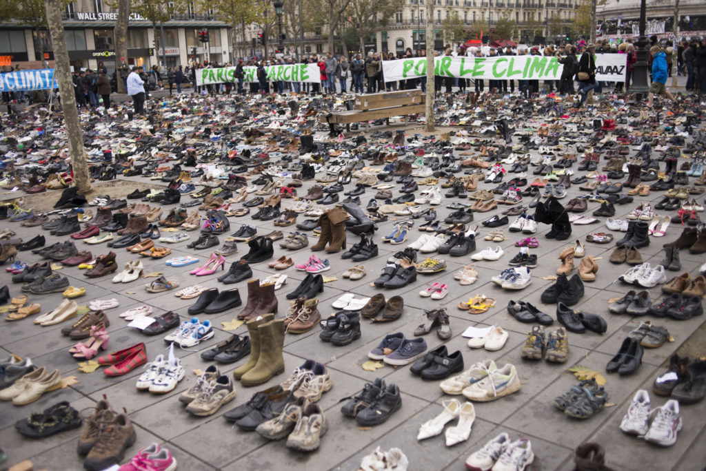 shoes avaaz protest paris