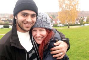 Shelton and her husband, Ahmad. (Photo courtesy Tracey Shelton)