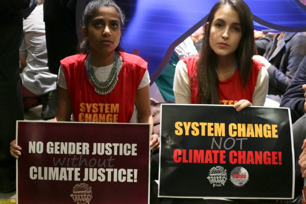 protesters at COP21