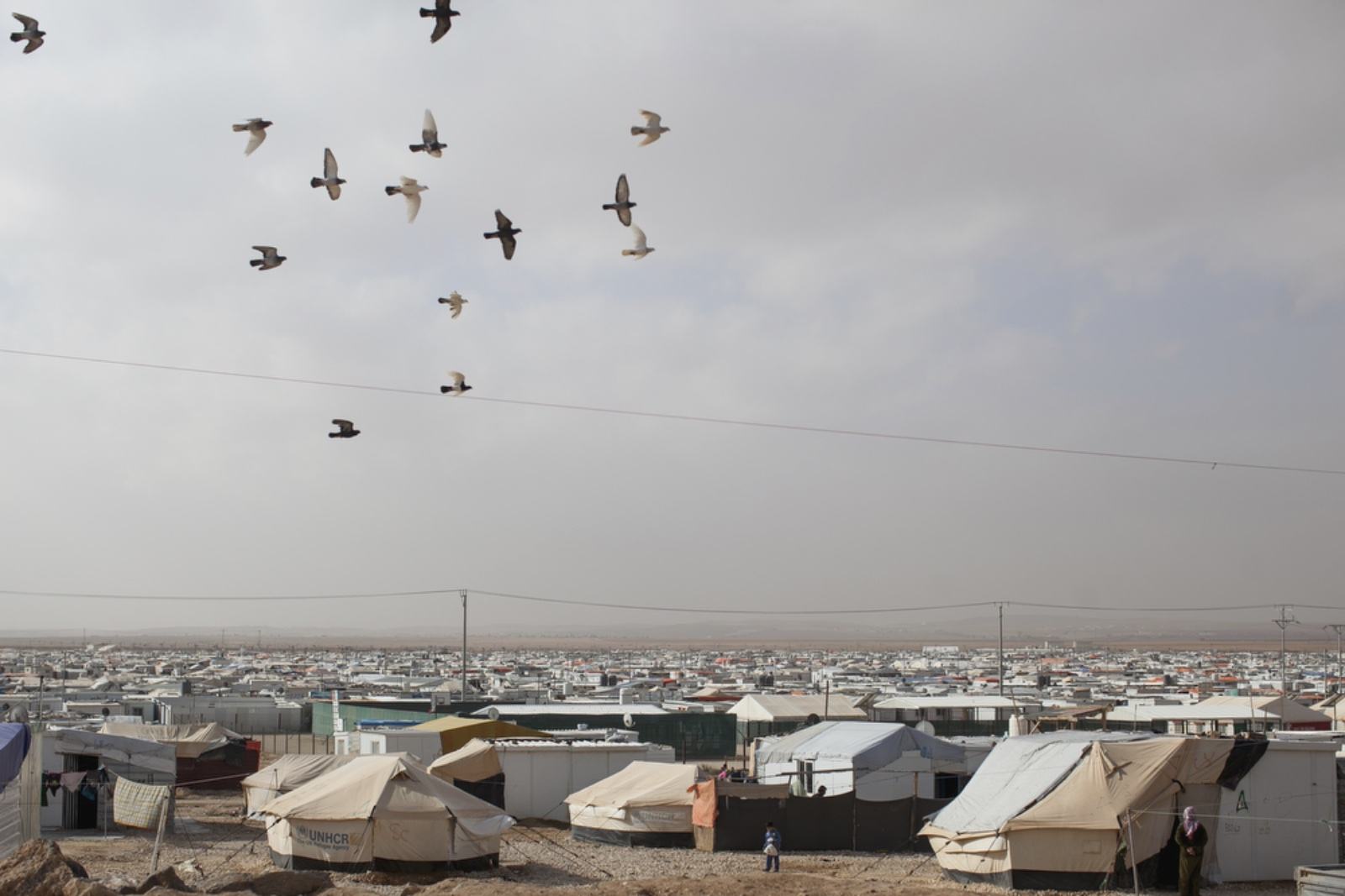 A view of Zaatari refugee camp. (Christopher Lee/GroundTruth)