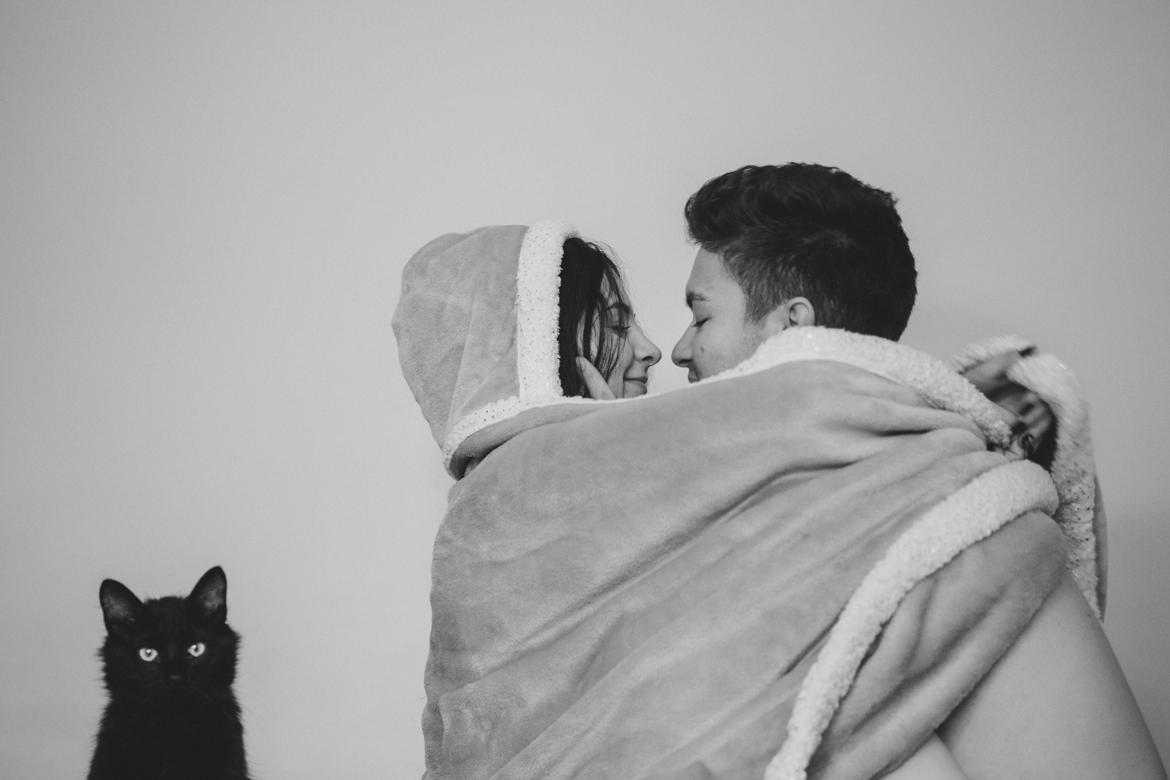 These lovers are Romanian students. I was trying to take romantic picture, but cat kept intruding into the frame. (Natalia Mindru/GroundTruth)