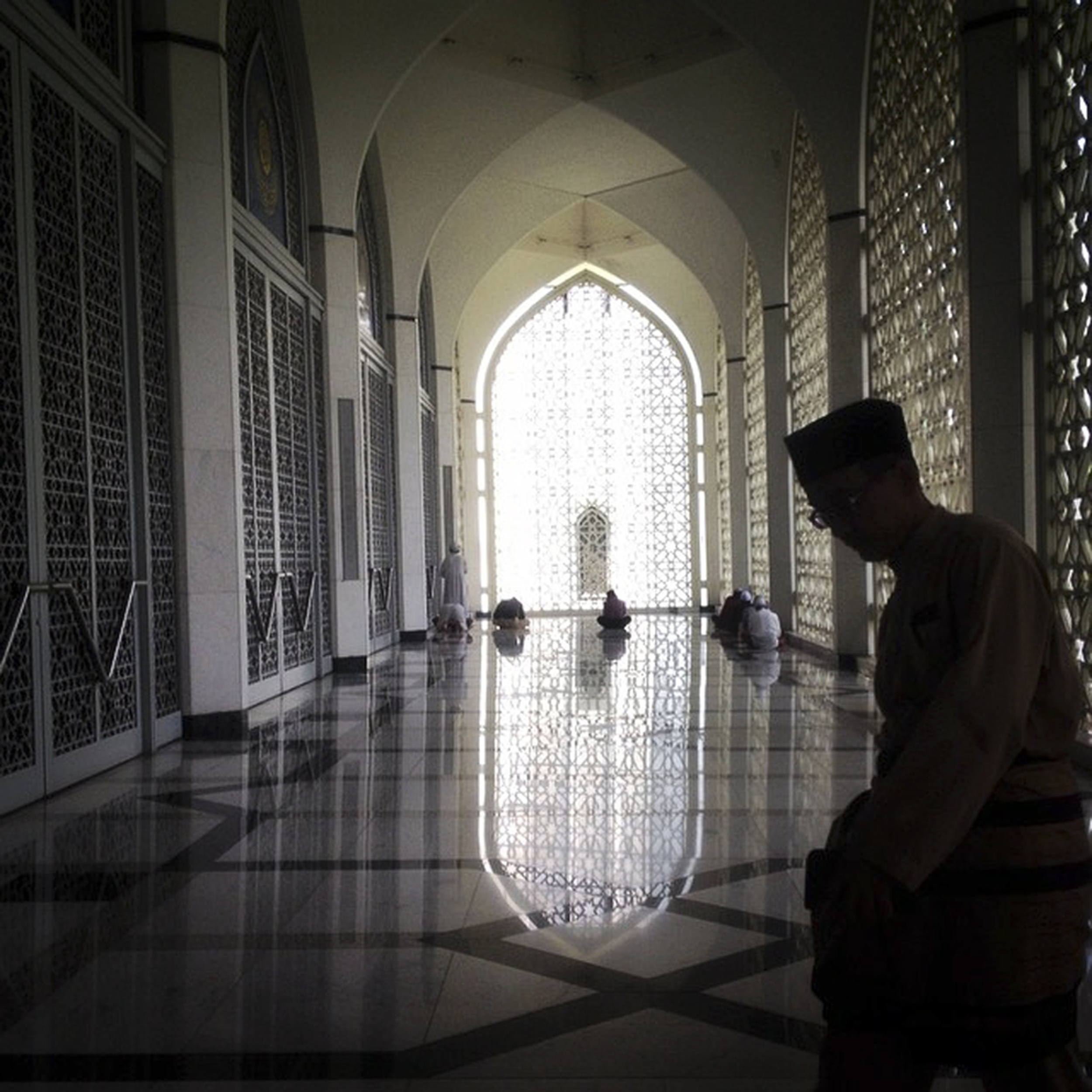Malaysian Muslims during Jum'ah Prayer at Sultan Salahuddin Abdul Aziz Mosque at Shah Alam, outside Kuala Lumpur, Malaysia. Jum'ah is a congregational prayer that Muslims hold every Friday. (Zulfadhli Zaki)