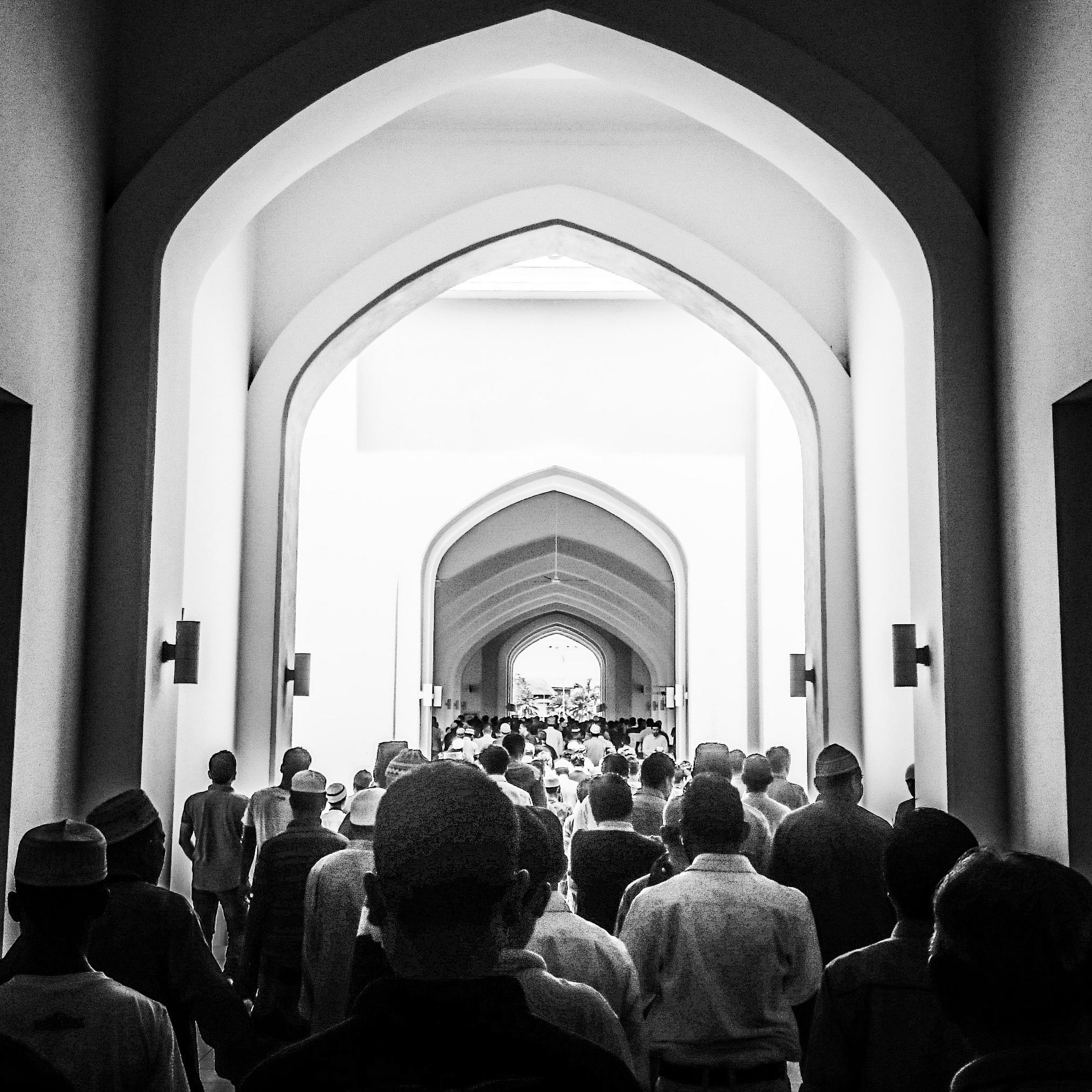 The congregants pray in Kuala Lumpur, Malaysia. (Zulfadhli Zaki)