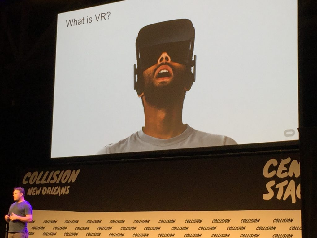 Virtual reality was a leading topic at the Collision conference in New Orleans. (Kevin Grant/GroundTruth)