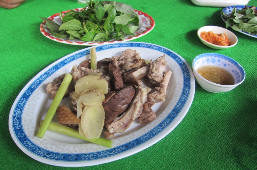 Porcupine is a sought-after delicacy in Vietnam, not readily available in the cities but a treat when you can get it. (Photo by Joanne Silberner/GroundTruth)