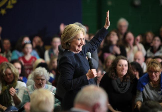 Hillary Clinton speaks to supporters in Manchester, New Hampshire. (Photo by Gage Skidmore/Flickr)