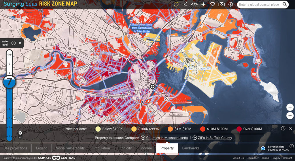 Surging Seas Risk Zone Map