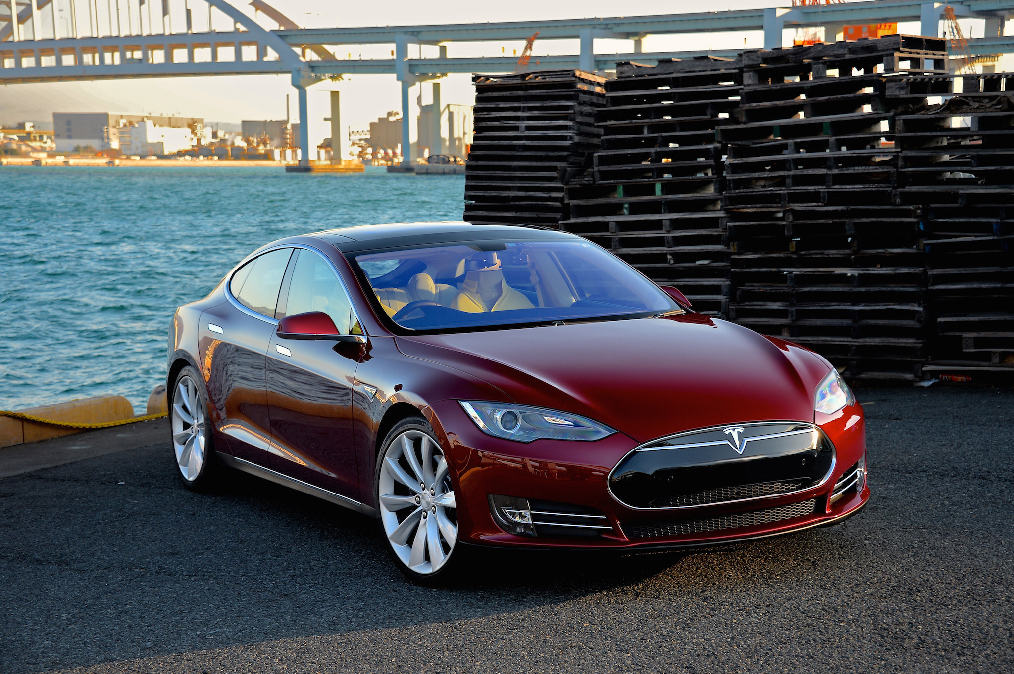 The Tesla Model S was first introduced to the United States in 2012. (Photo via Wikimedia Commons)