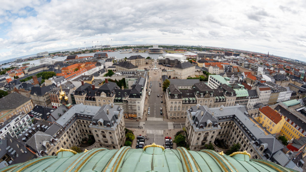 View from Frederick's Church, a renown landmark in Copenhagen, Denmark. (Photo by Stig Nygaard/Flickr User)