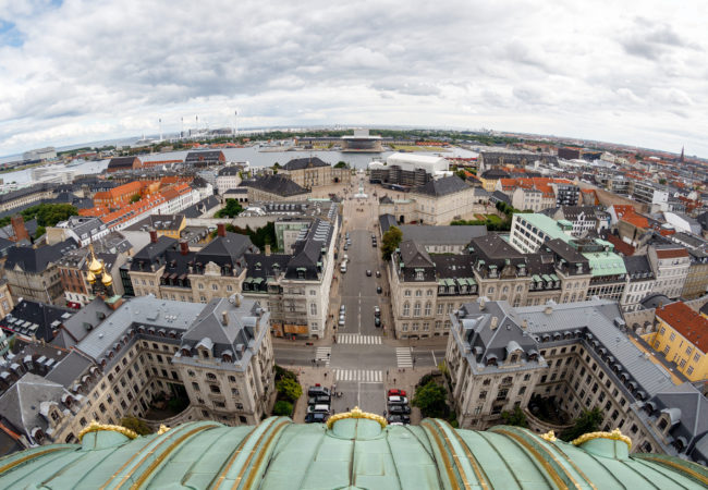 View from Frederick's Church, a renown landmark in Copenhagen, Denmark. (Photo by Stig Nygaard/Flickr User)