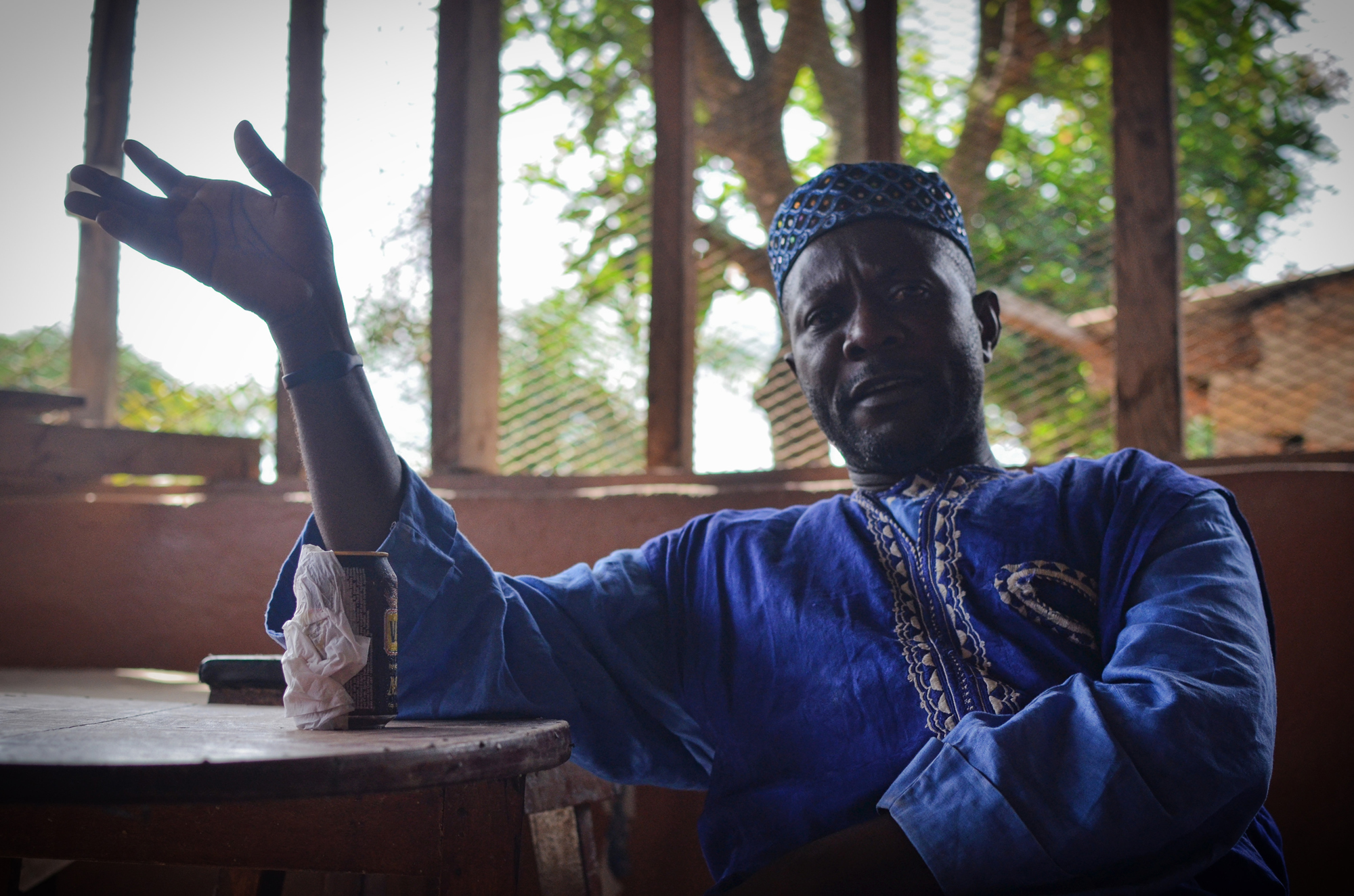 Ibrahim Bokari was shot in the foot by police during an anti-mining protest in 2007. He now leads the Campaign for Just Mining at the Network Movement for Justice and Development, a civil society organization in Koidu.