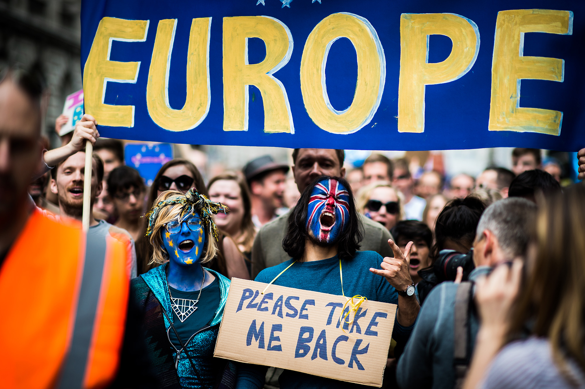 Thousands of people marched through London on July 2, 2016 as part of the 'March for Europe' Brexit protest. (Photo by Garon S/Flickr User)