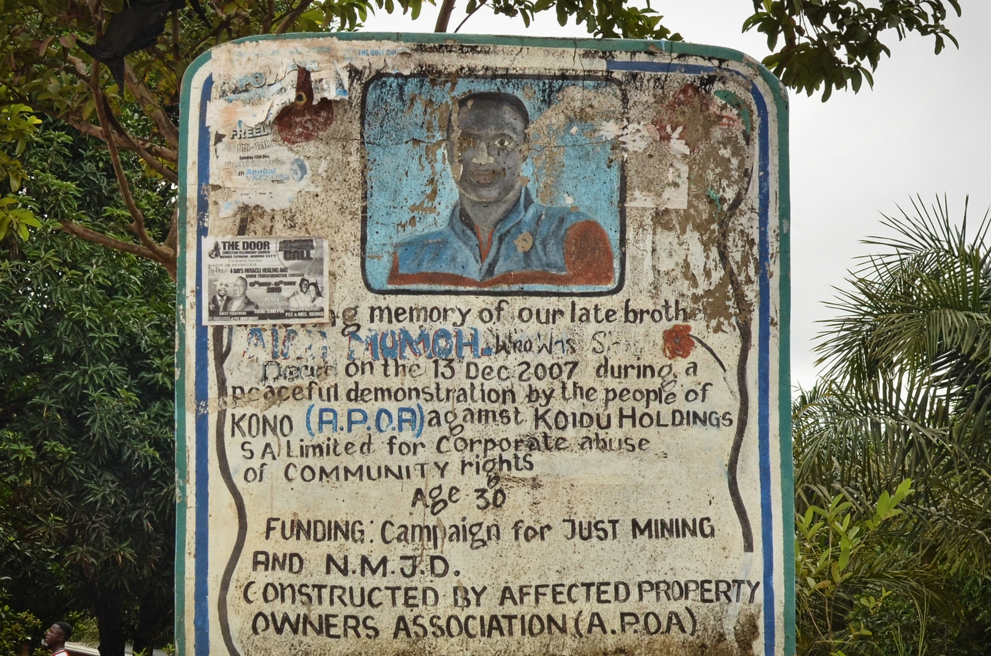 Aiah Momoh was killed by police during a 2007 anti-mining protest.