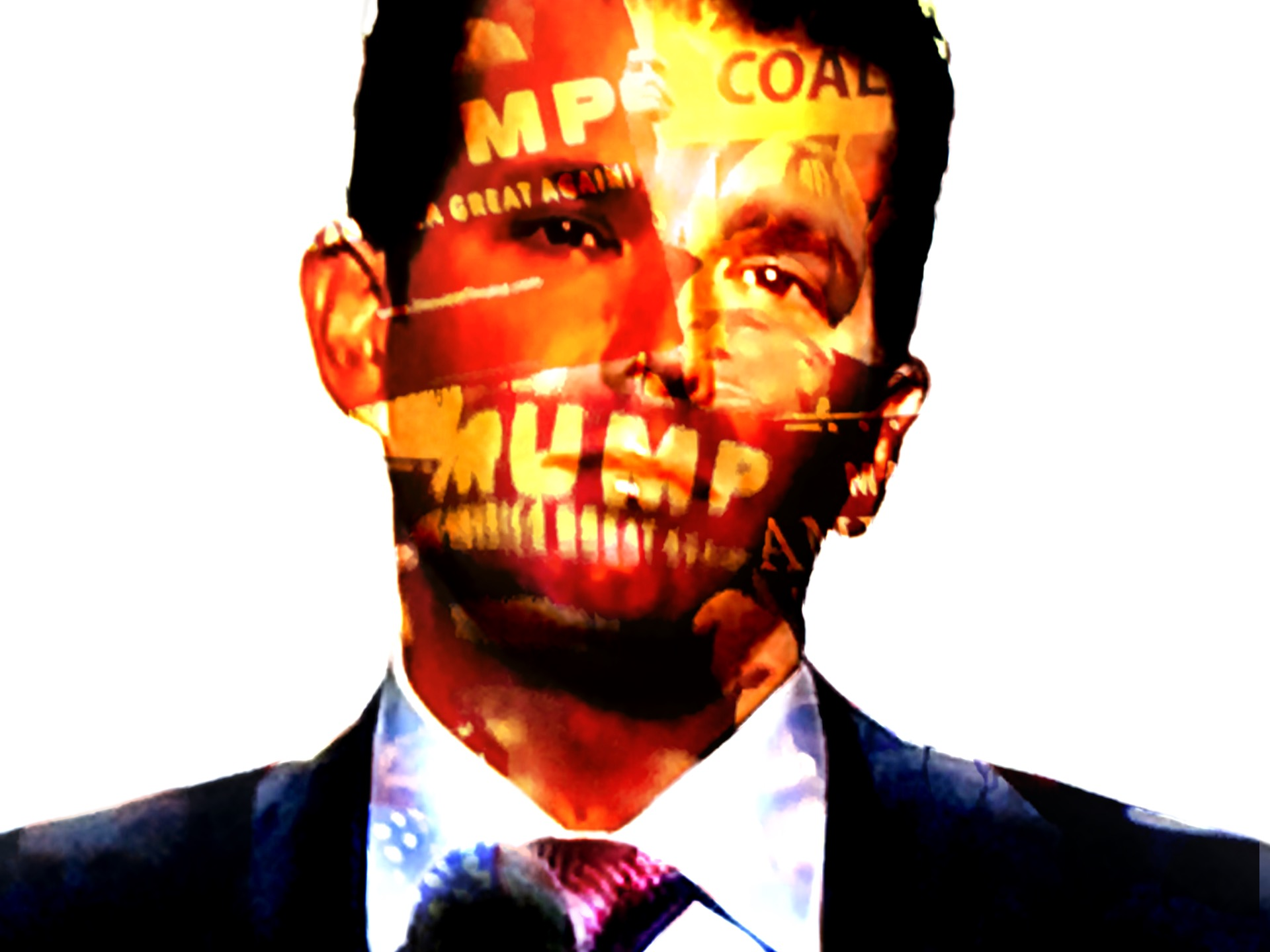 Donald Trump Jr. speaks at the RNC. (Composite image by Biz Herman/GroundTruth)