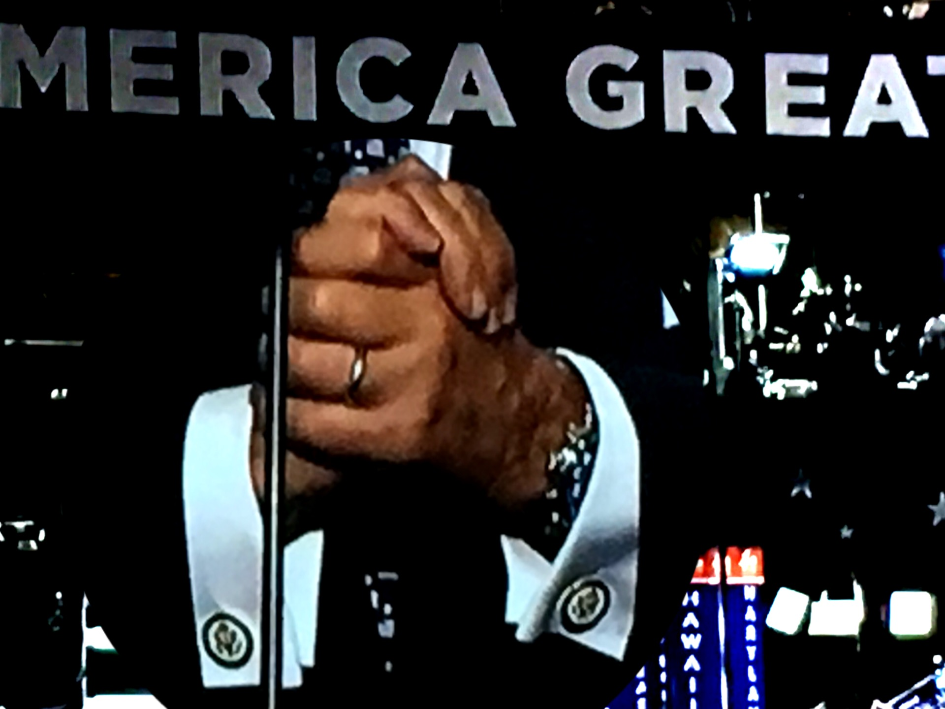 Rudy Giuliani speaks at the RNC. (Composite image by Biz Herman/GroundTruth)