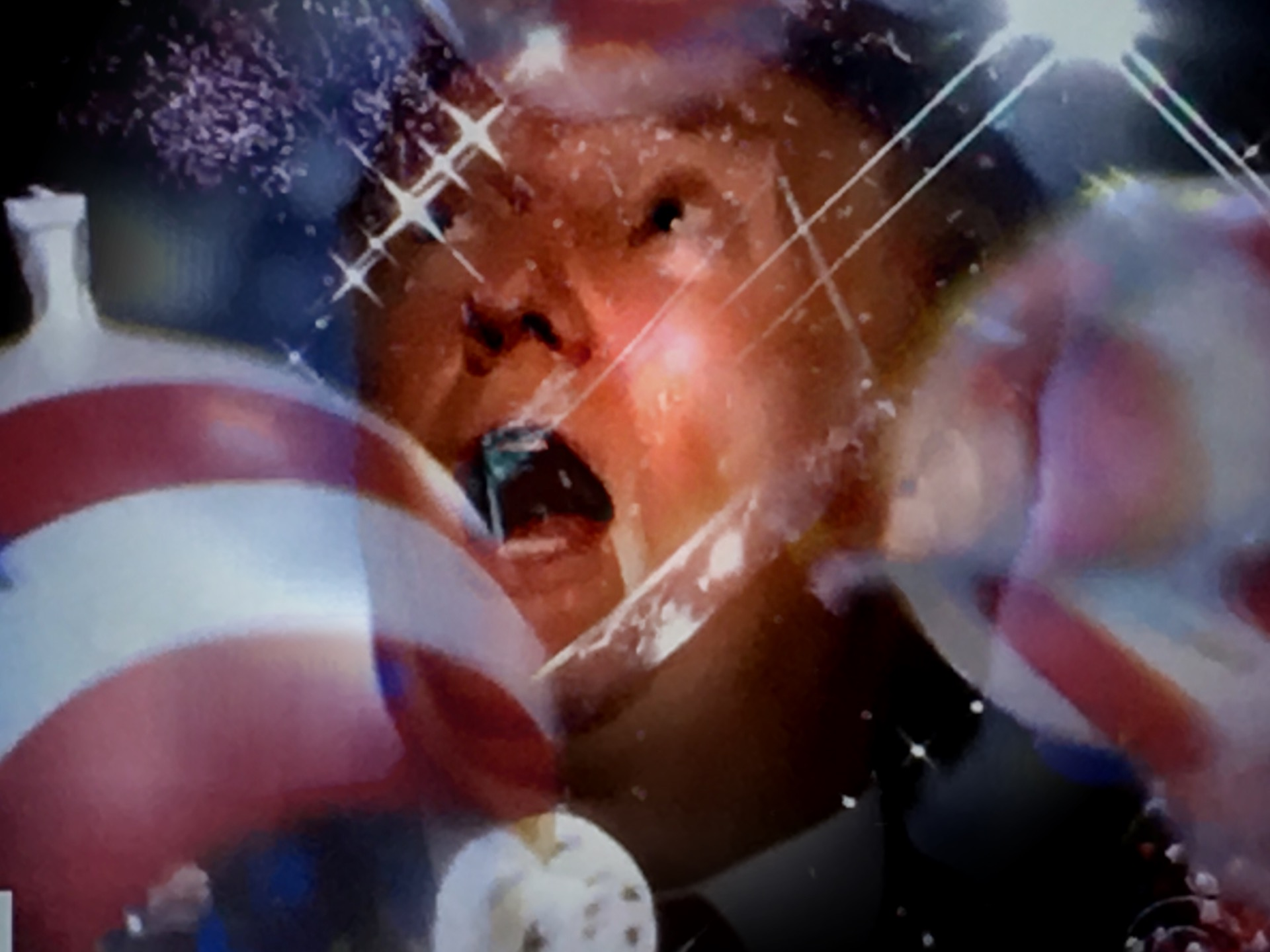 Donald Trump at the conclusion of the RNC. (Composite image by Biz Herman/GroundTruth)
