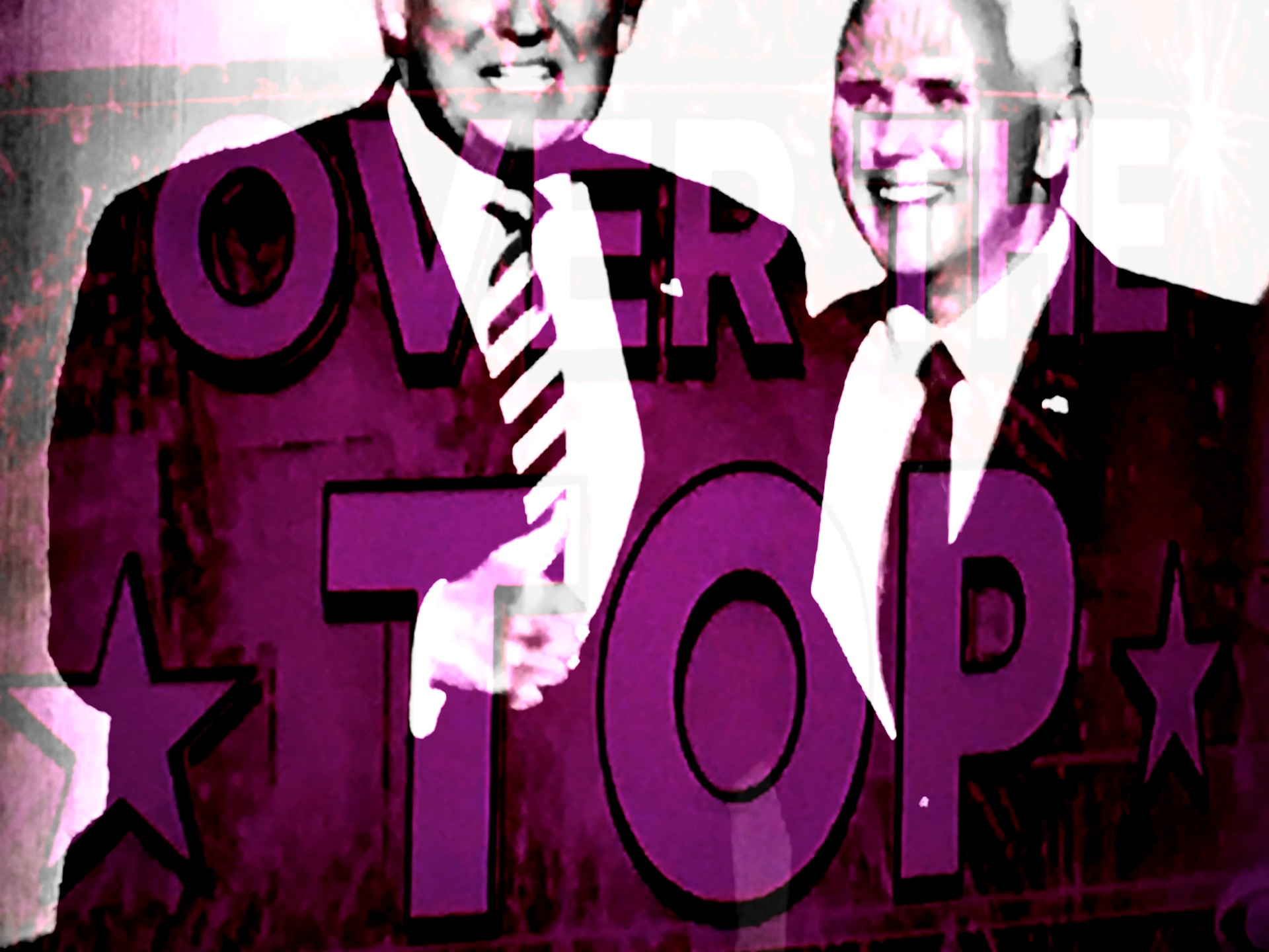 The Republican ticket for president and vice president at the RNC. (Composite image by Biz Herman/GroundTruth)