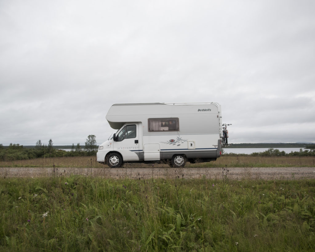 GroundTruth fellows toured Karasjok, Norway in a camper, where they reported on the effects of climate change. (Photo by Camilla Andersen/GroundTruth)