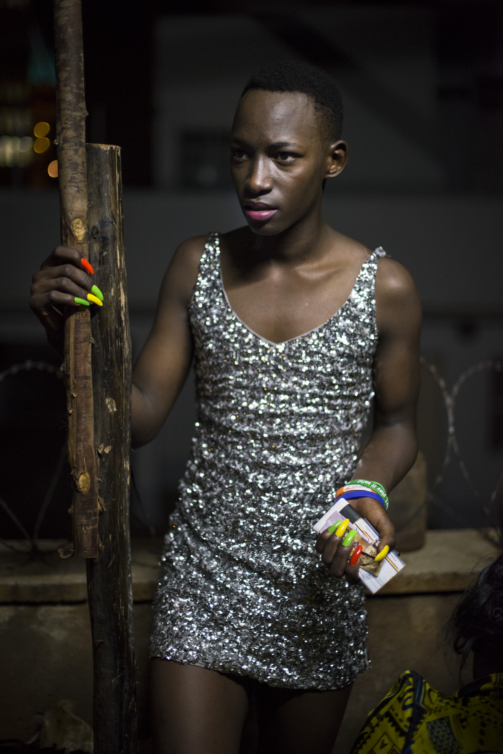 A contestant prepares backstage for the Mister and Miss Pride competition. (Photo by Diana Zeyneb Alhindawi/GroundTruth)