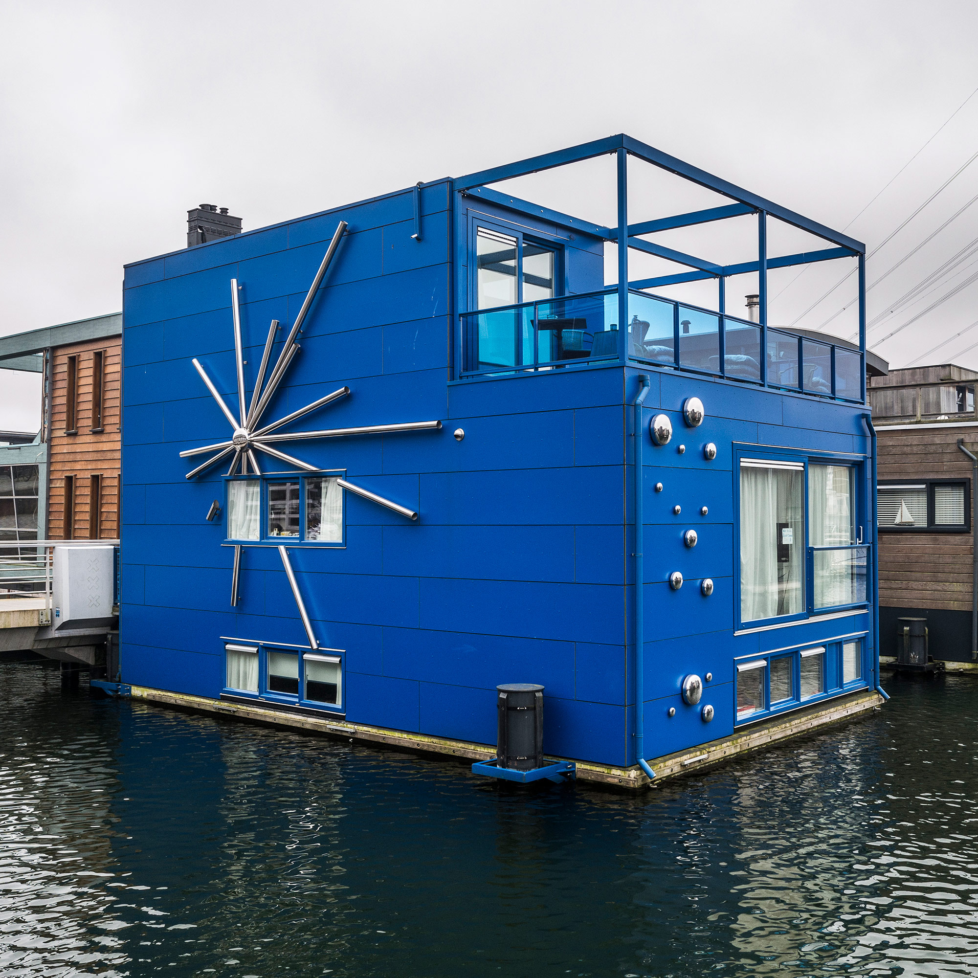 IJburg, a neighborhood of floating houses on the eastern edge of Amsterdam. (Photo by Joris van Gennip/GroundTruth)