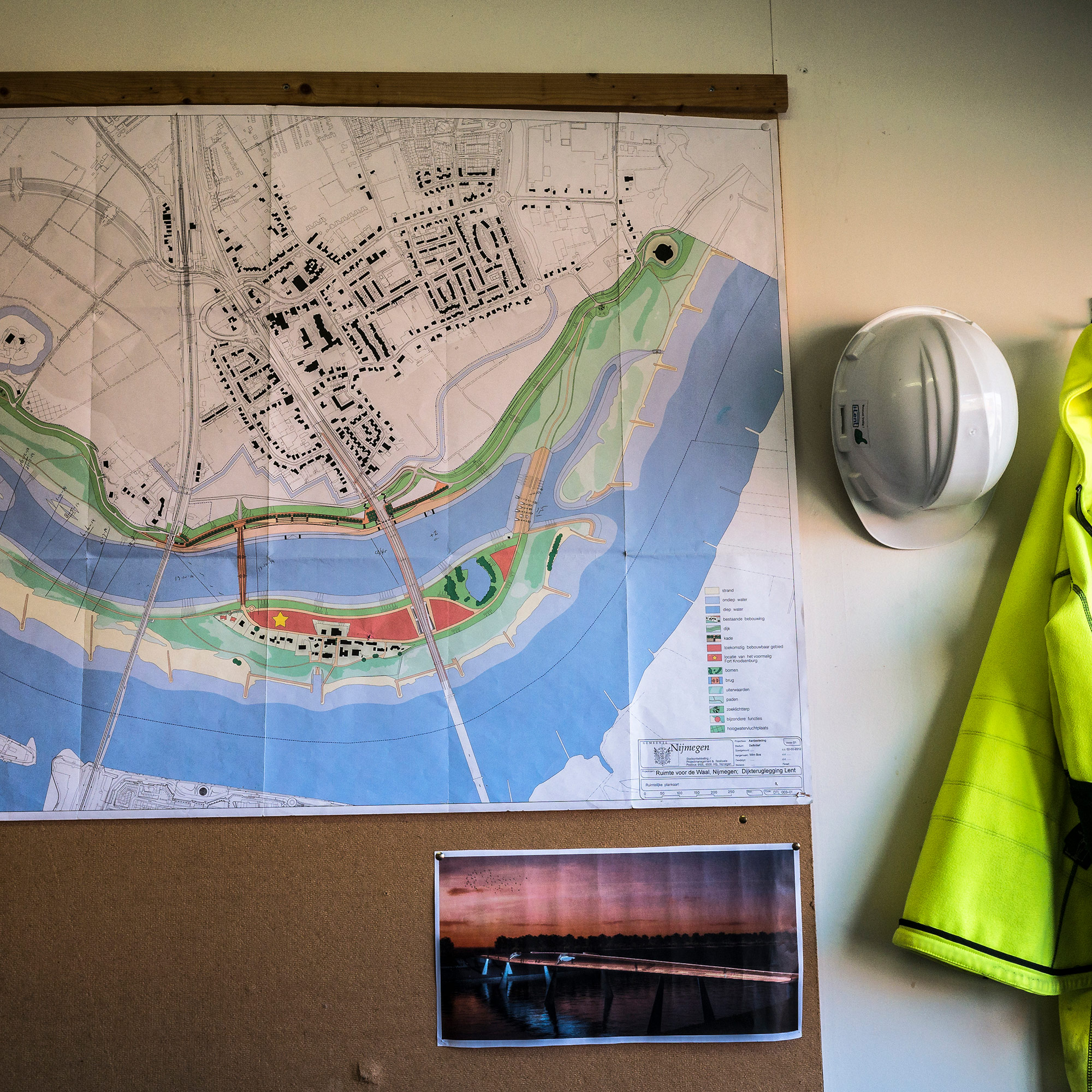 Project plans for Room for the River in Nijmegen. (Photo by Joris van Gennip/GroundTruth)