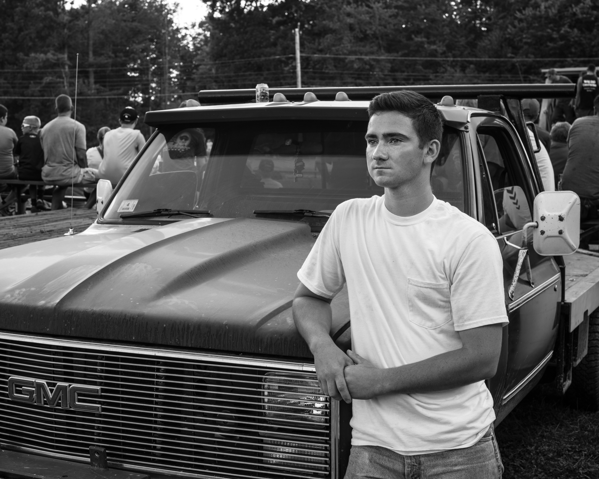 Chris Lassard with his GMC truck at the Wesfield Fair.
