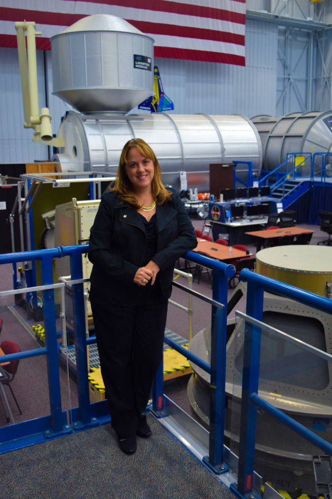 Allison is a flight operations directorate at NASA and the chief of the space vehicle mockup facility. (Photo by Peter Maroulis/GroundTruth)