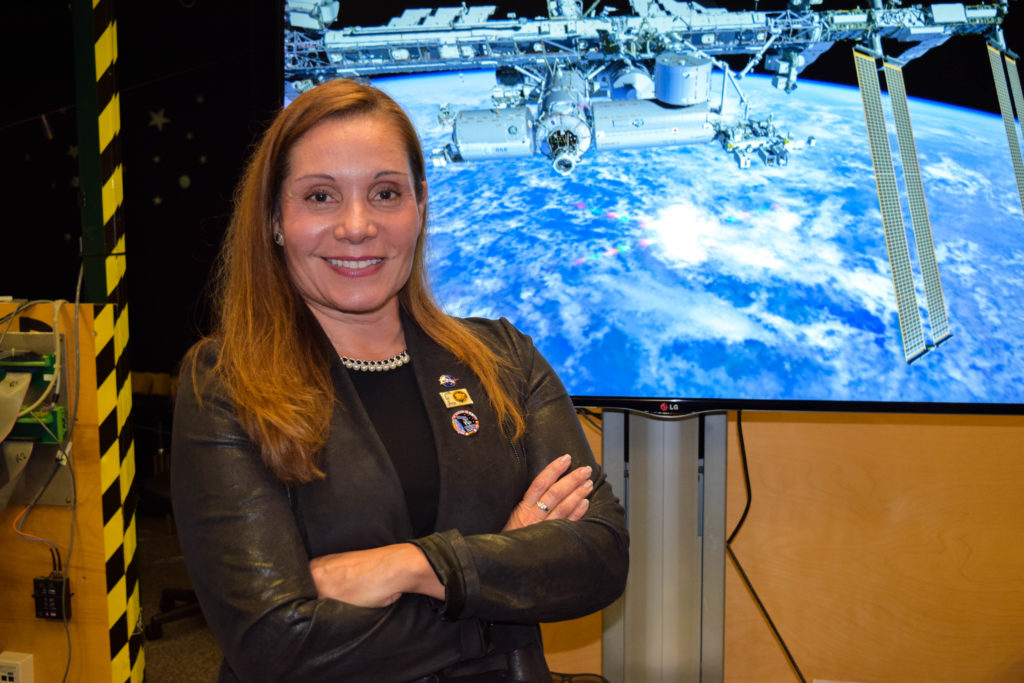 Evelyn is the lead VR innovator and principal engineer at the Virtual Reality Laboratory at NASA. (Photo by Peter Maroulis/GroundTruth)