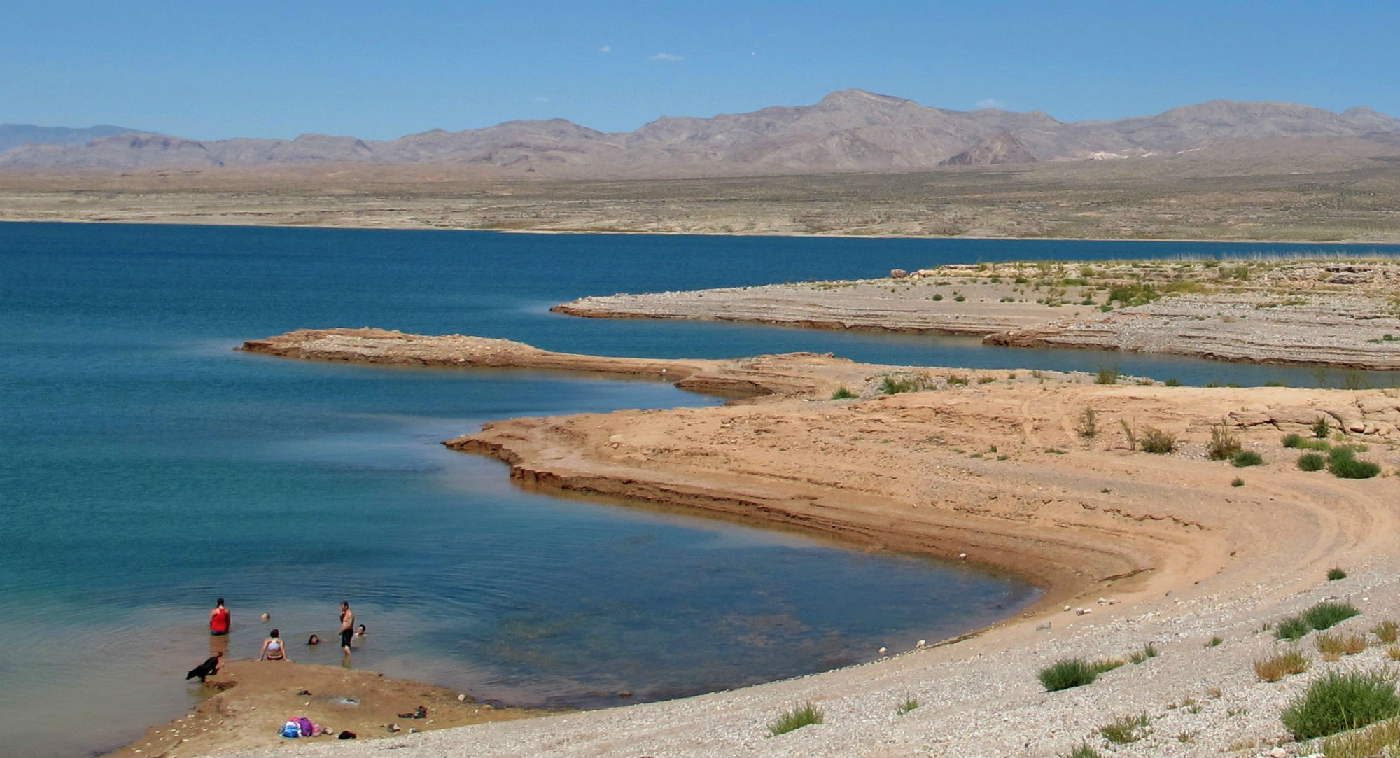 On Mead's western shores, miles of exposed shoreline now ring the lake.