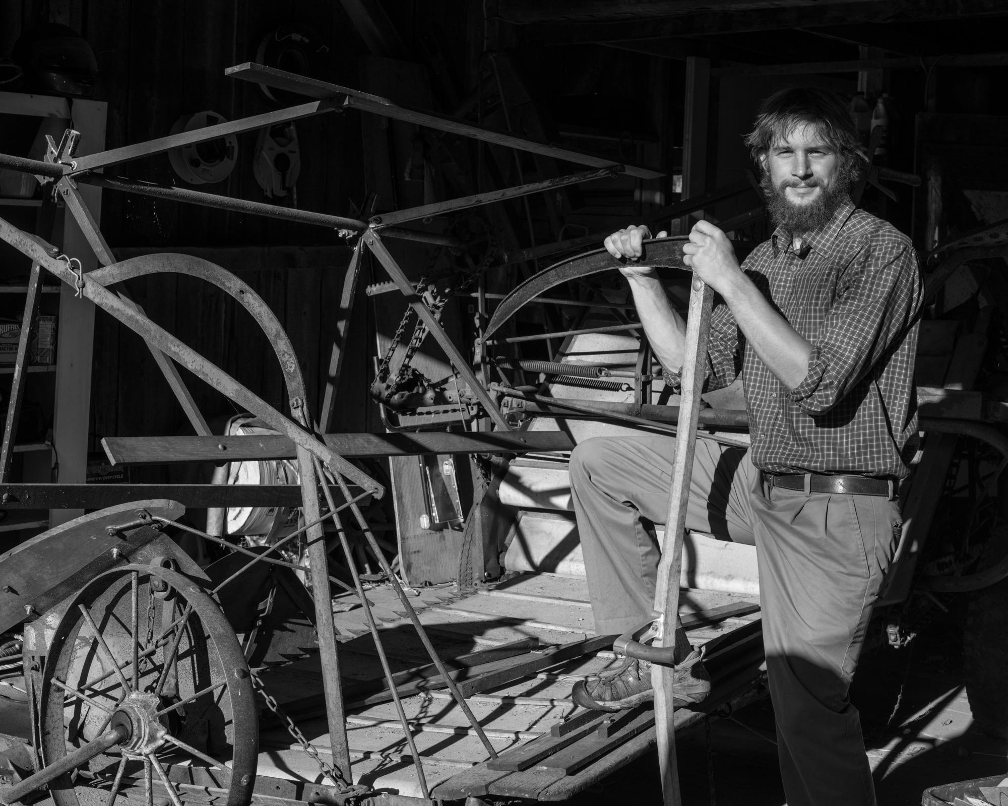 Stuart Soboleski in his workshop in Albany, VT.