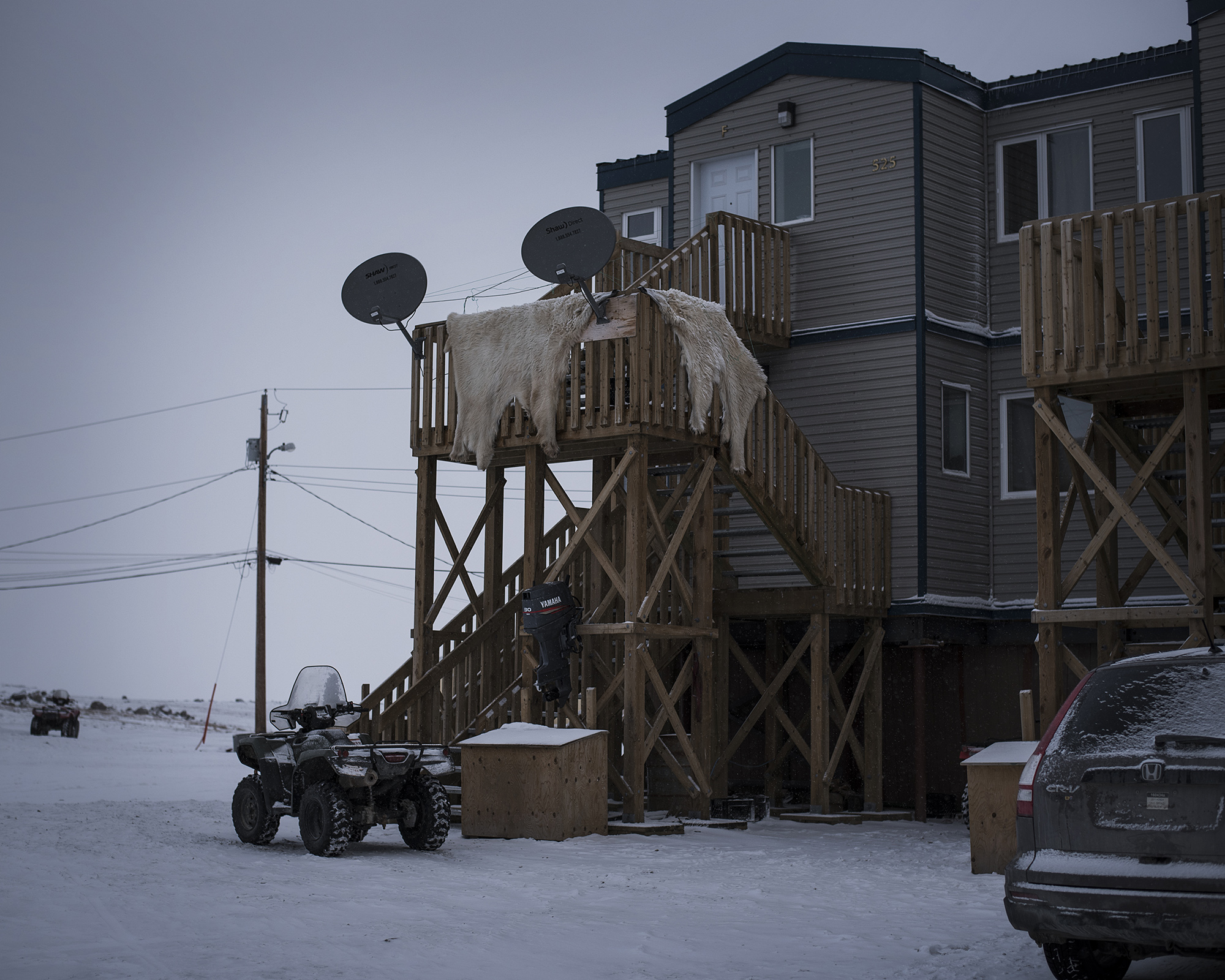Most Inuit lived in permanent housing by the end of 1960s, while children were forced to boarding schools far from home through a campaign of forced assimilation. The result of the program: many Inuit still feel lost between two cultures, and struggle with finding their place in modern society. (Camilla Andersen/GroundTruth)