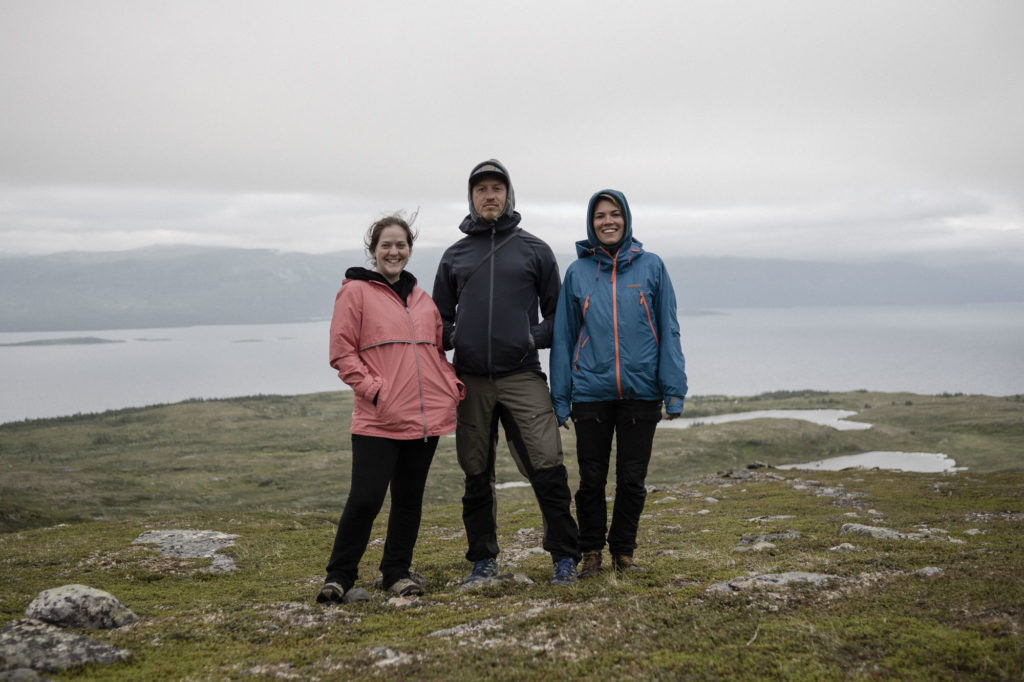 Melody Schreiber, Magnus Ormestad and Camilla Andersen are pictured in Arctic Scandinavia. (Photo by Camilla Andersen/GroundTruth)