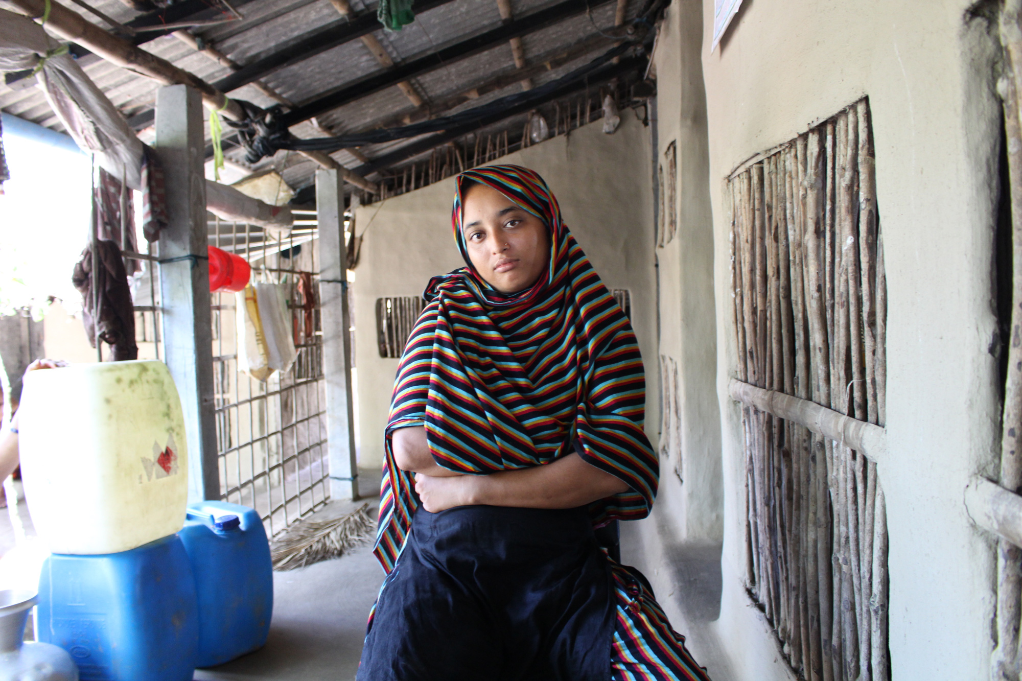 Khadija Begum, 24, has been married for 10 years. Before she became pregnant, she lived for a few years with her husband, who works as in a garment workshop in Dhaka. (Photo by Neha Thirani Bagri/GroundTruth)