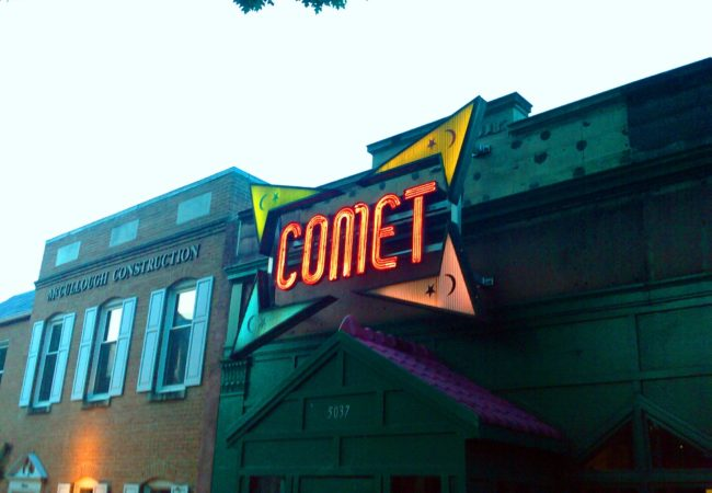Comet Ping Pong, a pizza joint in Washington, D.C., became entangled in a set of viral fake news stories that baselessly claimed the restaurant – and Hillary Clinton – was involved in a child abuse ring. There is no evidence of that. (Photo by Elizabeth Murphy/Wikimedia Commons)