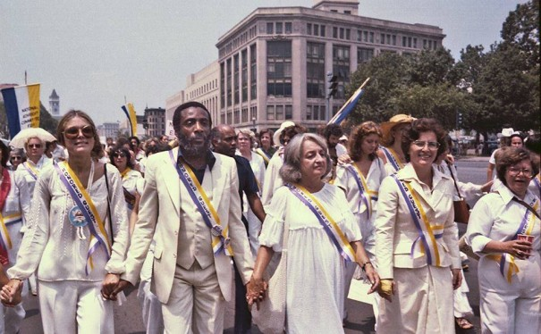 Women made history by marching for the Equal Rights Amendment in 1978. (Photo via Whitehouse.gov)