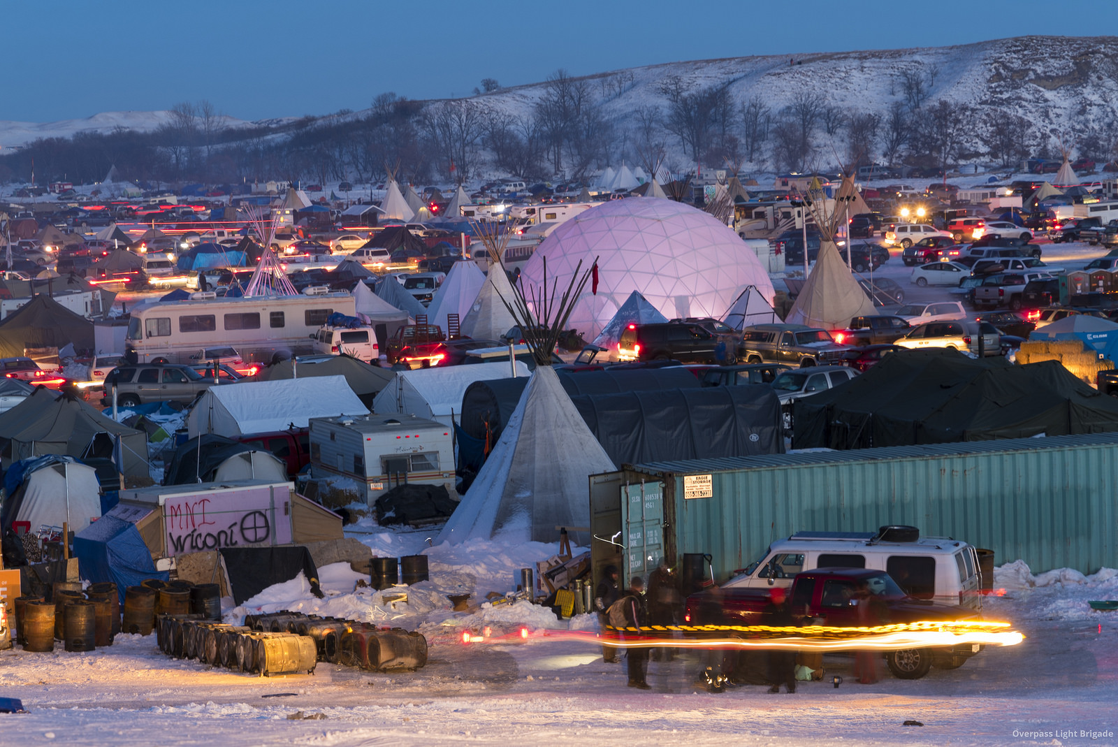 The Oceti Sakowin Resistance Camp on Dec. 4, 2016. (Photo by Joe Brusky/Flickr User)