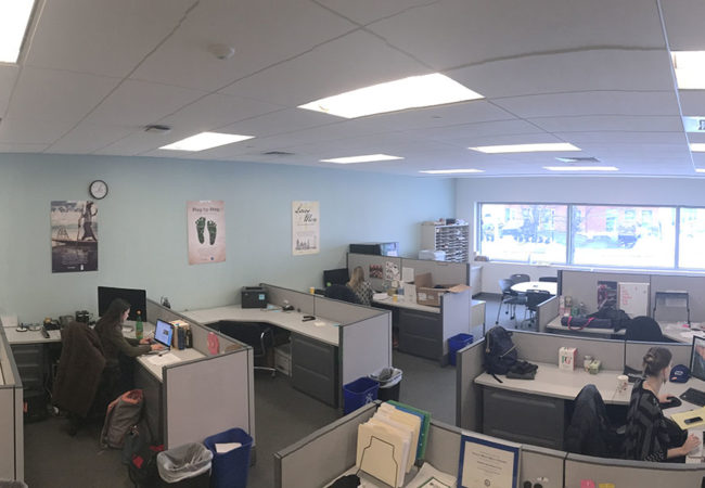 The GroundTruth Project office in Boston, Massachusetts.