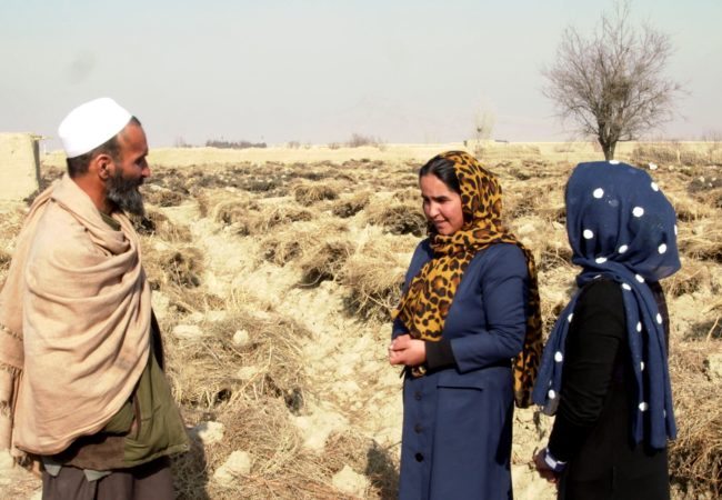 Hafizallah and his two daughters, Maryam, 23, and Goldasta, 24, live in Afghanistan's Hindu Kush mountain valley. (Photo via GroundTruth Films)