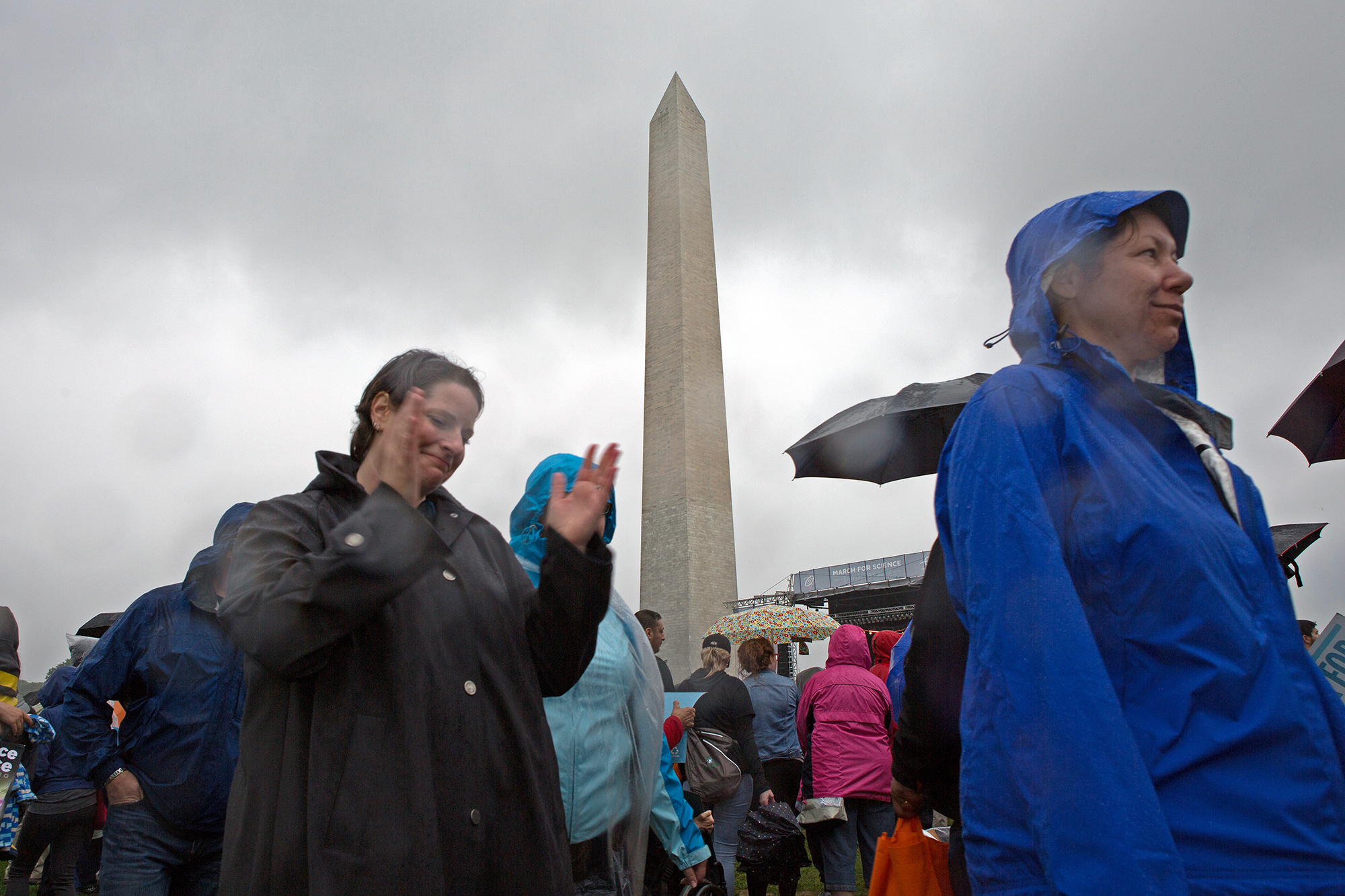 Washington Monument at Science March