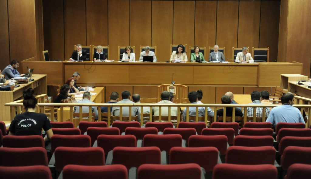 Over 140 hearings have taken place during the Golden Dawn trials. Photo by Golden Dawn Watch