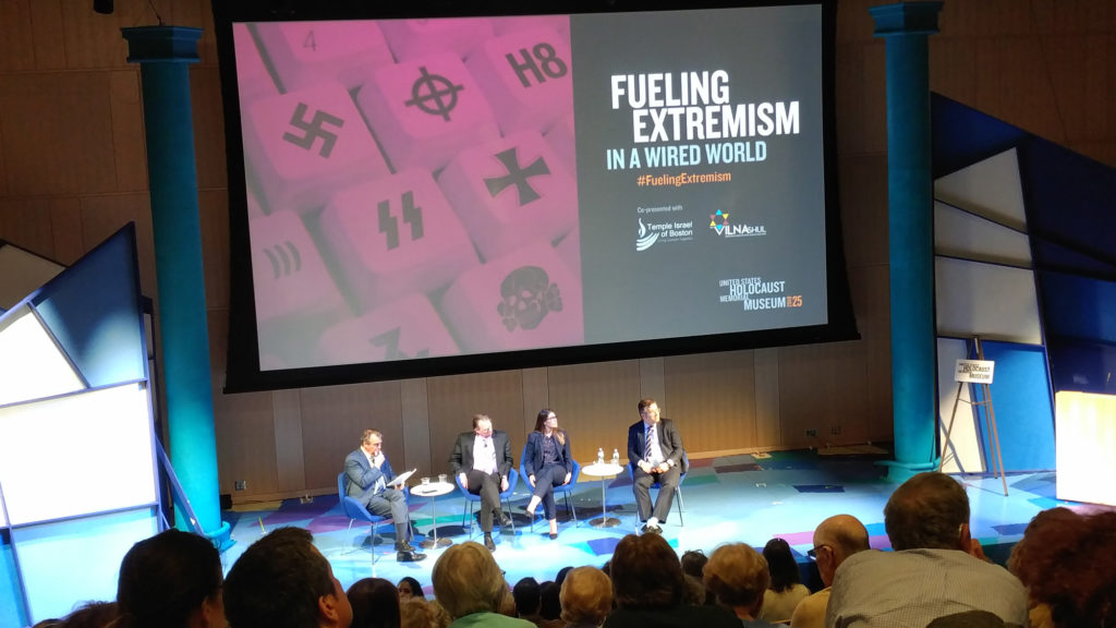 "GroundTruth Founder and Executive Director Charles Sennott moderated a panel called ""Fueling Extremism in the Wired World"" on Wednesday, May 17, 2017. (Photo by The GroundTruth Project)"