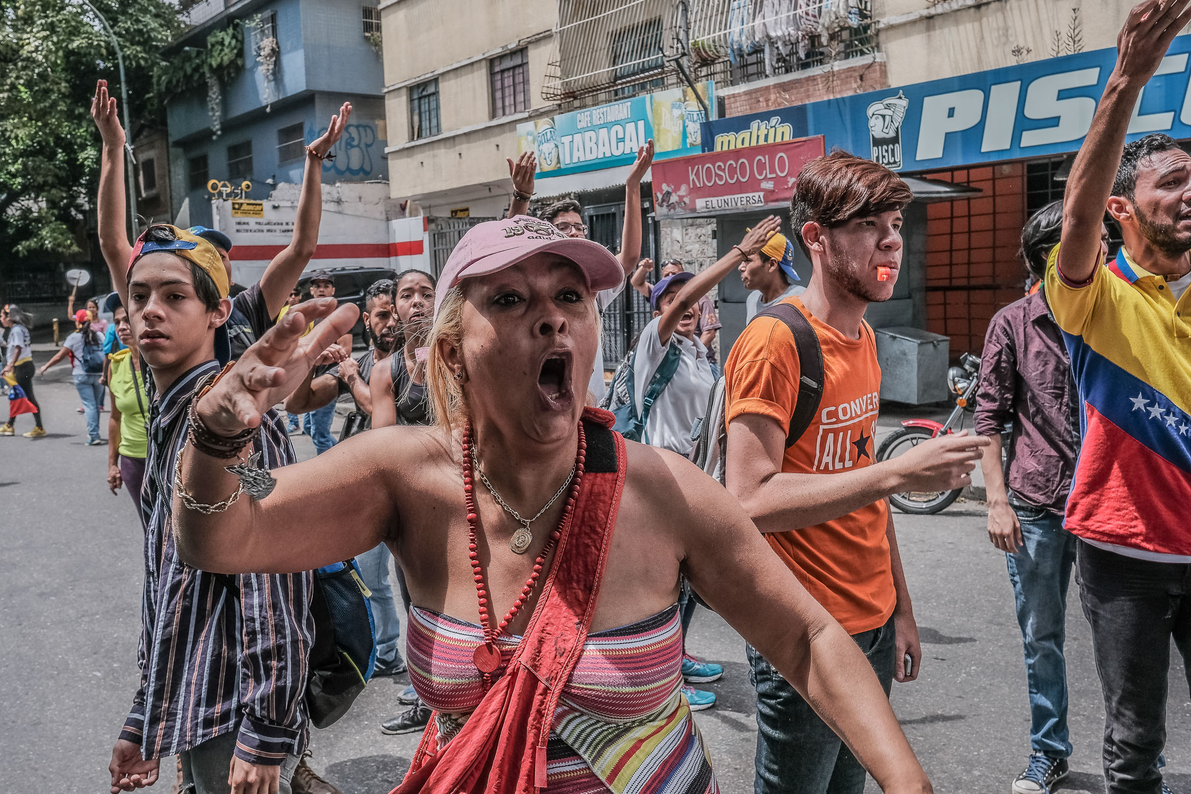 April 19, 2017 Caracas, Venezuela (Photo by Joris van Gennip/GroundTruth)