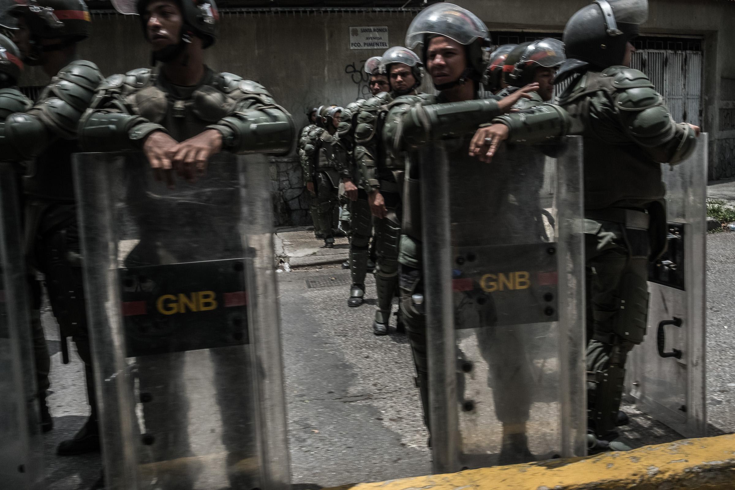 April 19, 2017 Caracas, Venezuela (Photo by Joris van Gennip/GroundTruth)