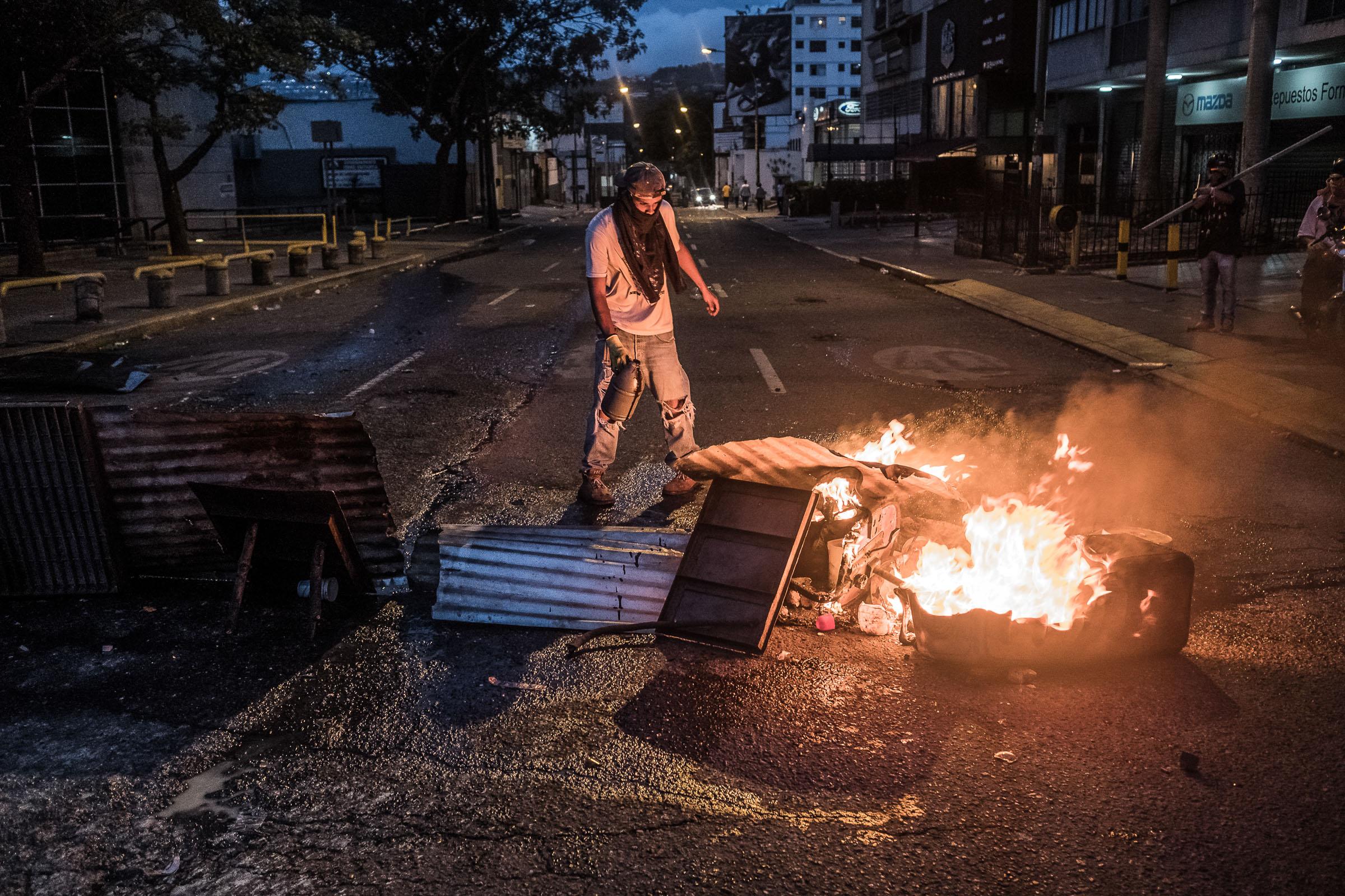 May 1, 2017 Caracas, Venezuela (Photo by Joris van Gennip/GroundTruth)