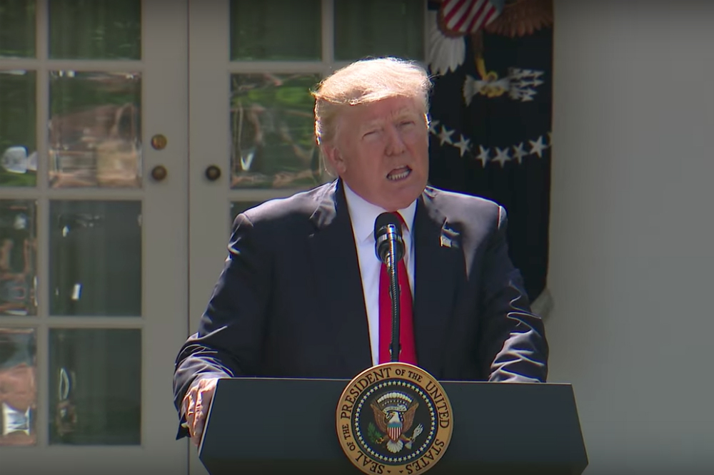 President Trump making the announcement that the U.S. will withdraw from the Paris Accord.