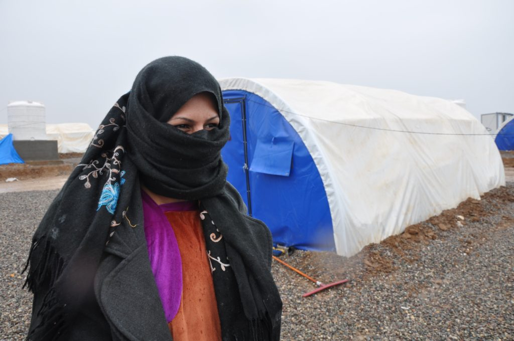 "ISIS hung people in the public square of Asala's neighborhood if they refused to go along with ISIS demands. I wanted to examine their faces to see if I knew any of them, but I just started crying under my black costume,"" Asala recalls. (Lauren Bohn/GroundTruth)"